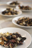 Assortment of dried herbal medicines Royalty Free Stock Photography