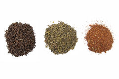 Assortment of dried tea Stock Image