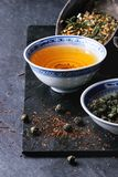 Assortment of dry tea Royalty Free Stock Photos
