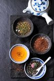 Assortment of dry tea Royalty Free Stock Image