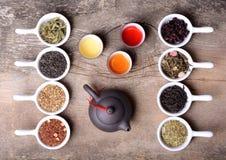 Assortment of dry tea Royalty Free Stock Photos
