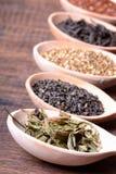 Assortment of dry tea Royalty Free Stock Photo