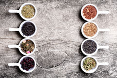 Assortment of dry tea Stock Image