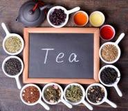 Assortment of dry tea Royalty Free Stock Image