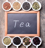 Assortment of dry tea Royalty Free Stock Photography