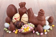 Easter chocolates Royalty Free Stock Images