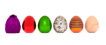 Assortment of Easter eggs Royalty Free Stock Photo