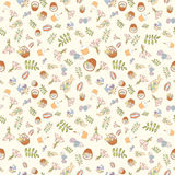 Assortment Easter seamless pattern Stock Images