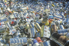 An assortment of empty aluminum cans waiting for recycling in St. Louis, Missouri Royalty Free Stock Images