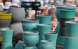 Assortment of empty flowerpots. Stock Photography