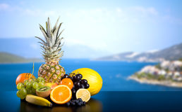 Assortment of exotic fruits Royalty Free Stock Images