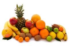 Assortment of exotic fruits isolated on white Royalty Free Stock Image
