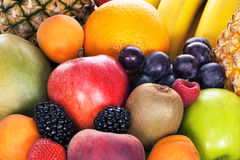 Assortment of exotic fruits Stock Images