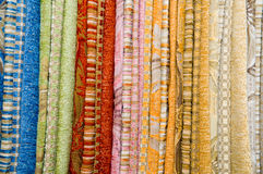 Assortment of a fabric Stock Photo