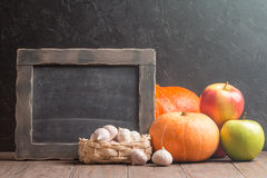 Assortment of farm autumn fruits and vegetables Royalty Free Stock Photos