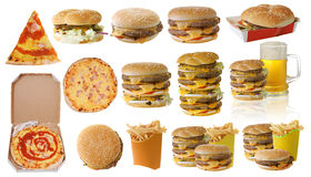 Assortment of fast food Stock Photography