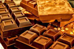 An assortment of fine chocolates Stock Photography