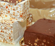 An assortment of fine chocolates Royalty Free Stock Image