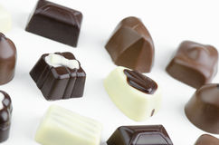 Assortment Of Fine Chocolates Stock Photos