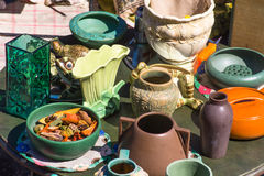 Assortment of flea market in USA in spring Royalty Free Stock Images