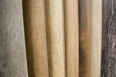 Assortment of flooring samples in shop Royalty Free Stock Images