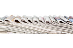 Assortment of folded newspapers Royalty Free Stock Photography