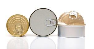 Assortment of food tin can Royalty Free Stock Photos