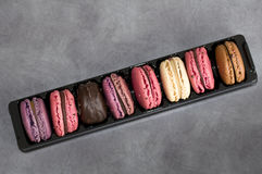 Assortment of french macarons Stock Images