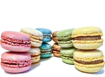 Assortment of French macaroons Royalty Free Stock Photo