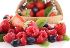 Assortment of fresh berries Royalty Free Stock Photos