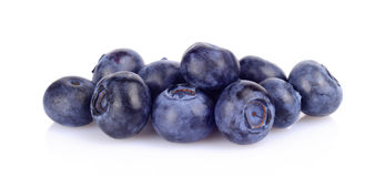 Assortment of fresh blueberries isolated white Stock Images