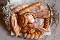 Bread on display Stock Image