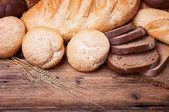Assortment of fresh bread Stock Photos