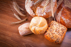Assortment of fresh bread Royalty Free Stock Images