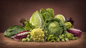 Assortment of fresh cabbages Royalty Free Stock Photo