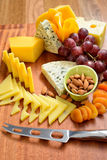 Assortment of fresh cheeses Stock Image