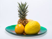 Assortment of fresh exotic fruits Stock Photo