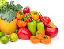 Assortment fresh fruit and vegetables Royalty Free Stock Photo