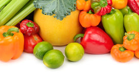 Assortment fresh fruit and vegetables Royalty Free Stock Image