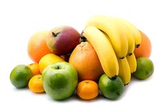 Assortment of fresh fruits Stock Images