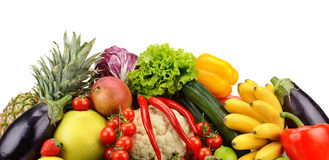 Assortment fresh fruits and vegetables Royalty Free Stock Photography