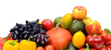 Assortment of fresh fruits and vegetables Stock Images