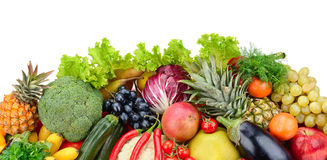 Assortment fresh fruits and vegetables Royalty Free Stock Image