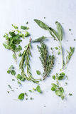 Assortment of fresh herbs Royalty Free Stock Images