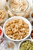 assortment of fresh ingredients for healthy breakfast, closeup Royalty Free Stock Image