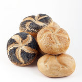 Assortment of fresh Kaiser rolls Royalty Free Stock Photo