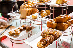 Assortment of fresh pastry on table Royalty Free Stock Photo