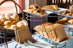 Assortment of fresh pastry on table Royalty Free Stock Photography