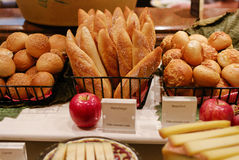 Assortment of fresh pastry on table in buffet Stock Image