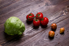 Assortment of fresh and useful vegetables. Stock Photography